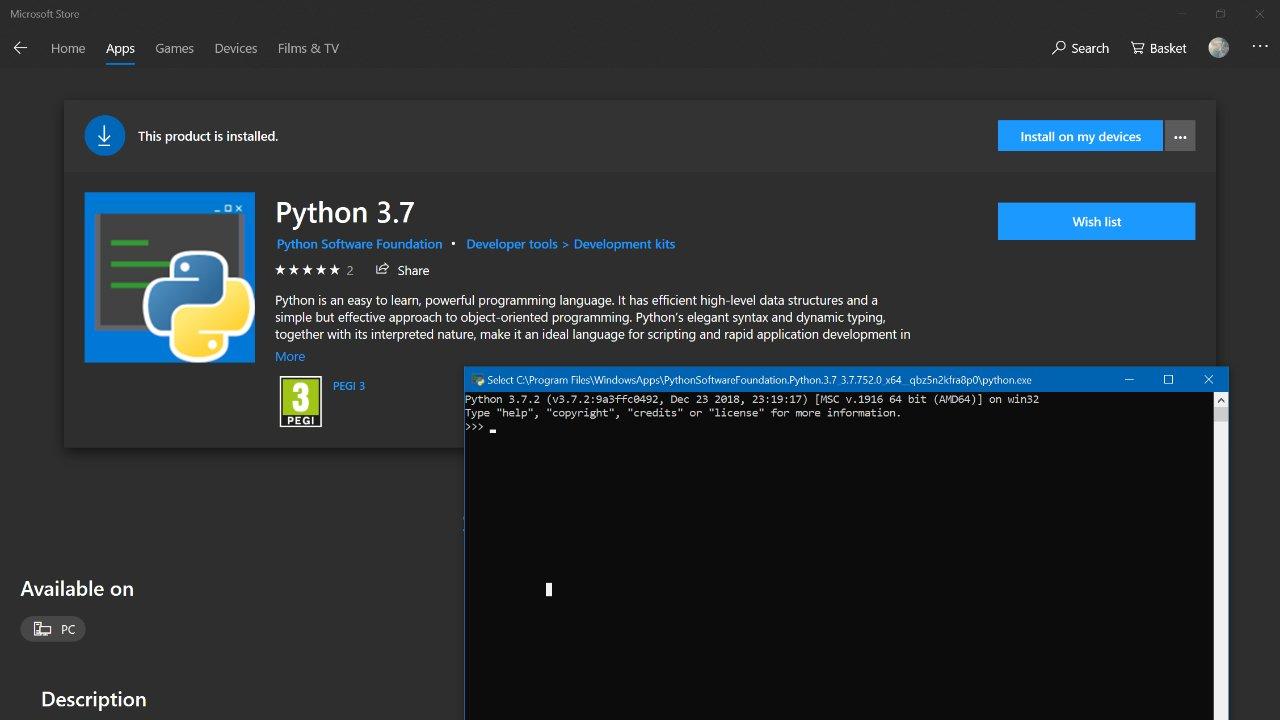 破天荒!Python課程可以直接從 Windows 10 下載